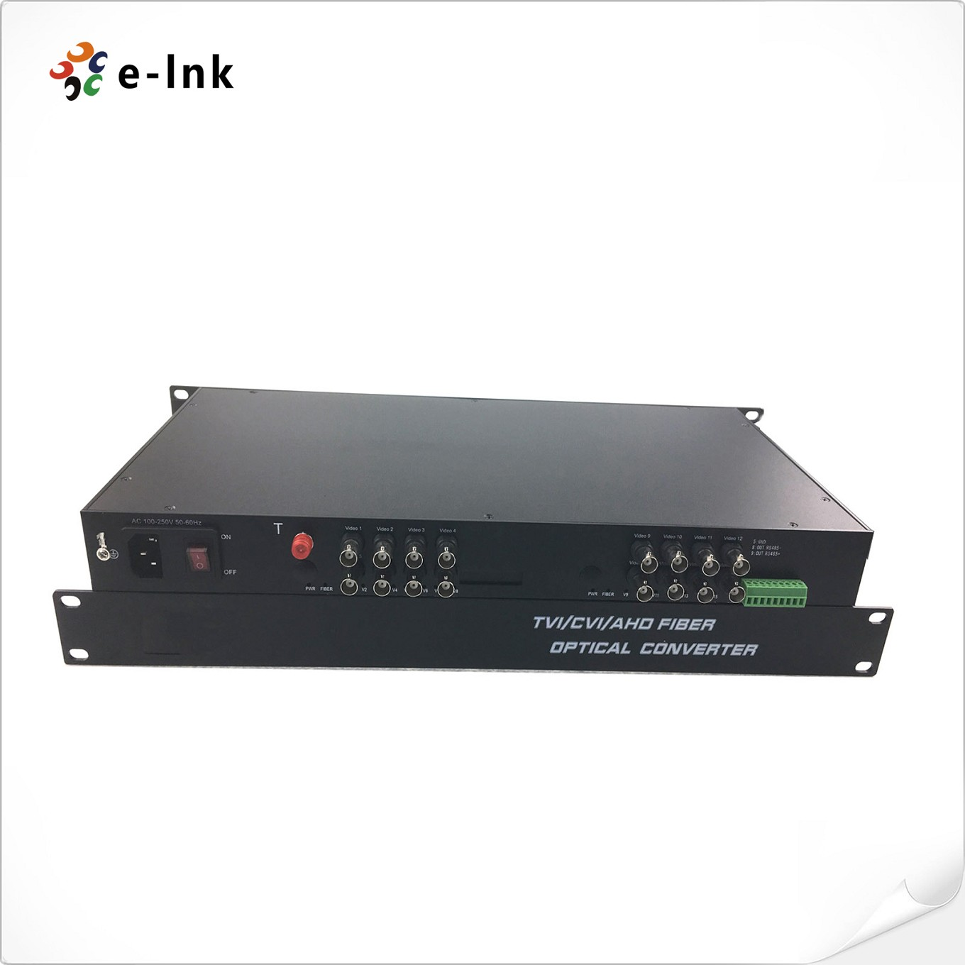 16Ch 5MP HD-AHD/HD-CVI/HD-TVI/CVBS 4-in-1 Video Fiber Converter