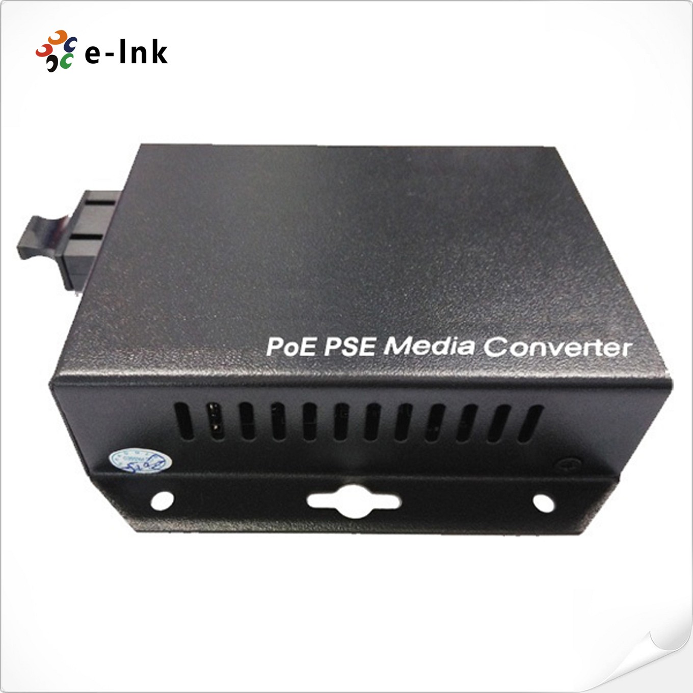 Wall-Mounted 10/100/1000Mbps Gigabit PoE-PSE Fiber Media Converter