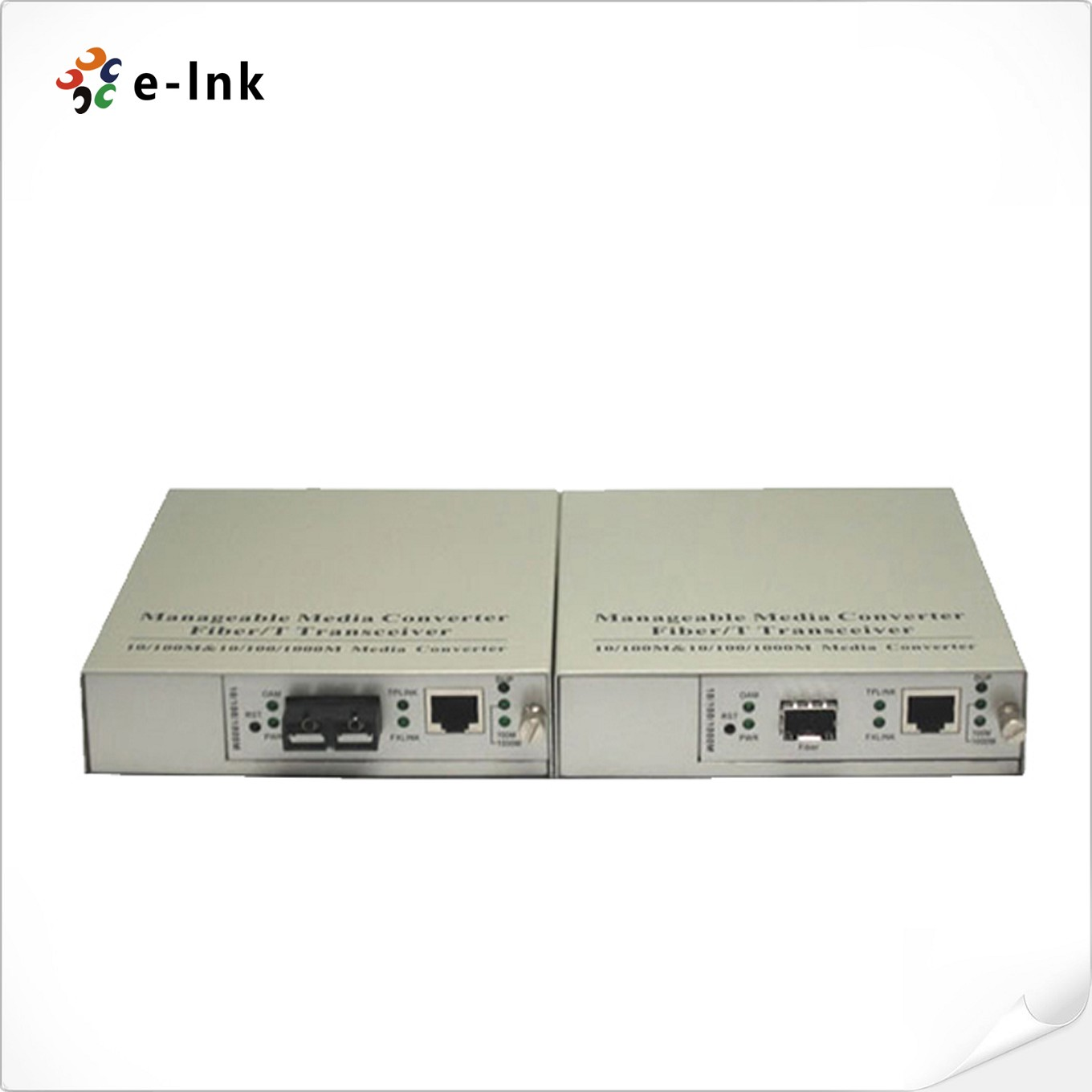 10/100Base-T to 100Base-X SFP  One to One Manageable Media Converter