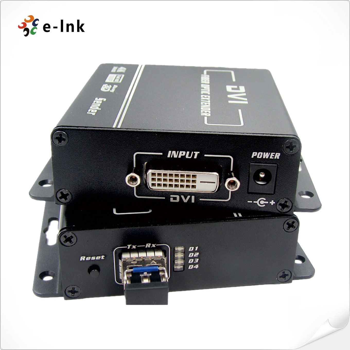 4K DVI Fiber Optic Extender