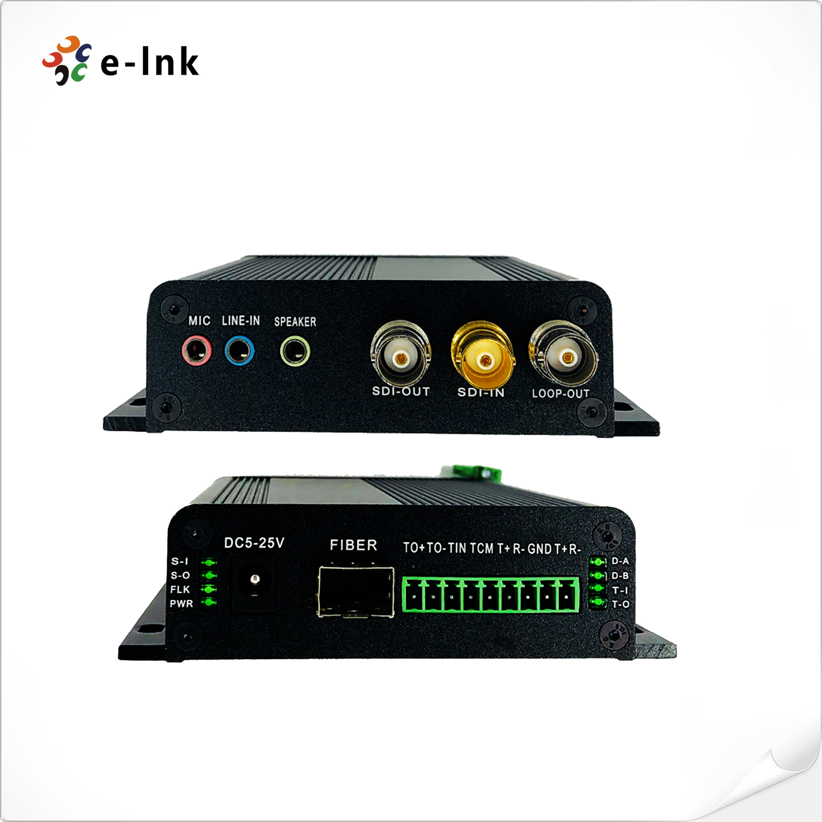 2 Ch Bidirectional 3G-SDI Video Fiber Converter with Tally + RS485/RS422 + Stereo Audio + Microphone