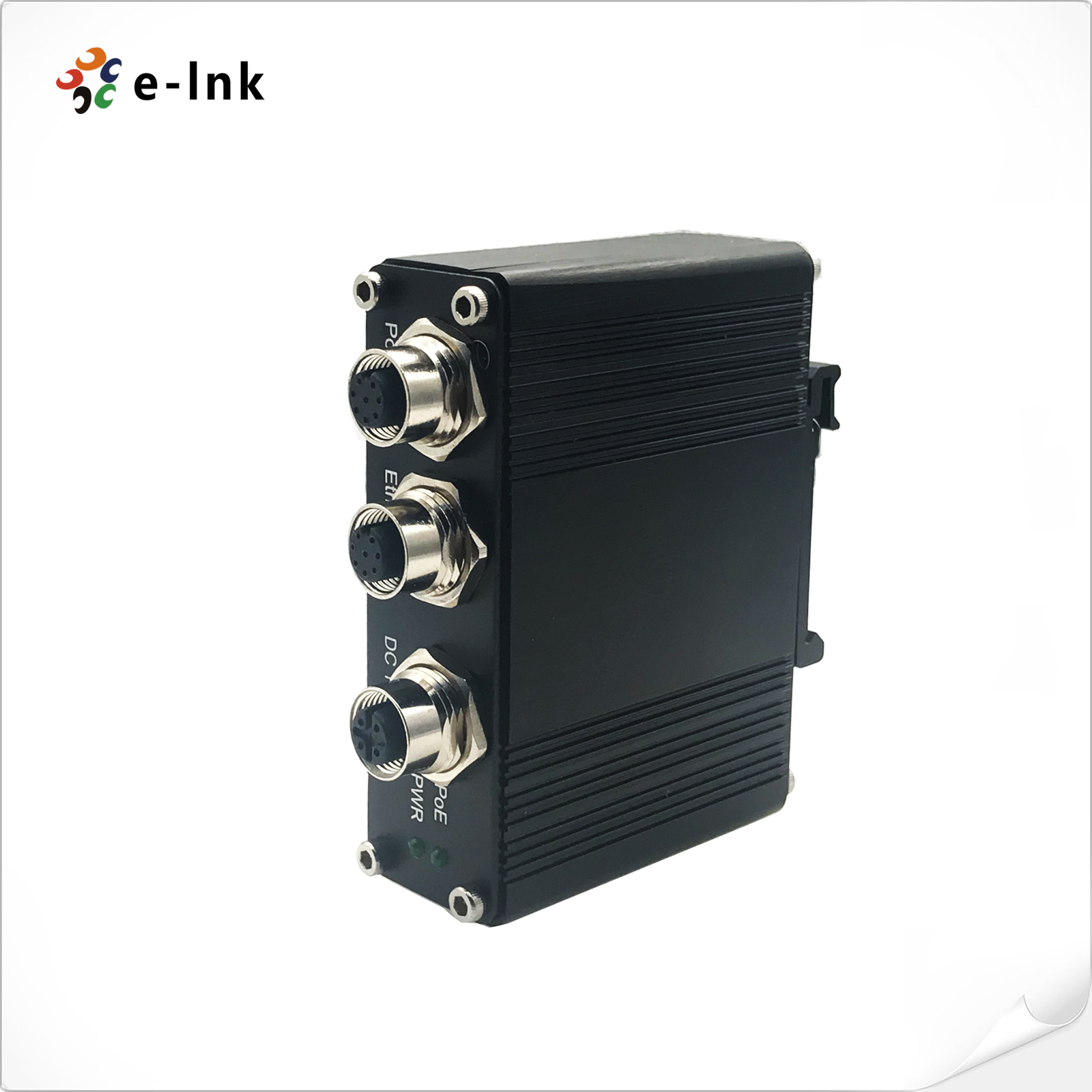EN50155 Industrial 1-port 10/100/1000 PoE Injector with 30W output M12 connector